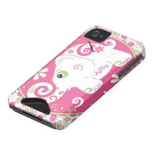 Fancy Elephant Floral iPhone 4 Case-Mate ID Case