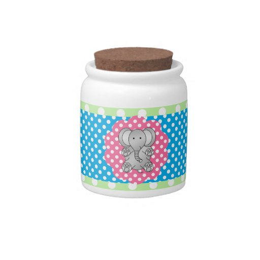 Fancy elephant polka dots candy dish