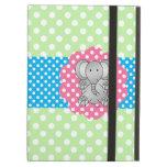 Fancy elephant polka dots iPad case