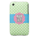 Fancy elephant polka dots iPhone 3 Case-Mate cases