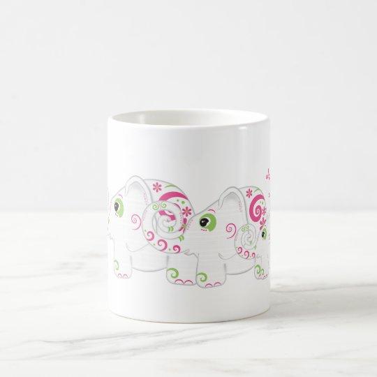 Fancy Elephants on Parade Personalized Mug