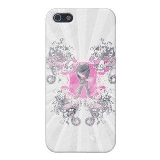 fancy emo girl kid with crossbone skull swirls iPhone 5 cases