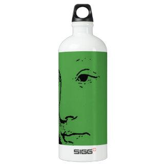 Fancy Face Aluminum Water Bottle