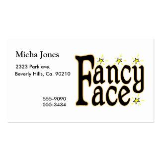 Fancy Face Business Card