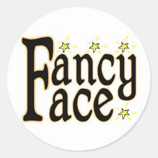 Fancy Face Classic Round Sticker