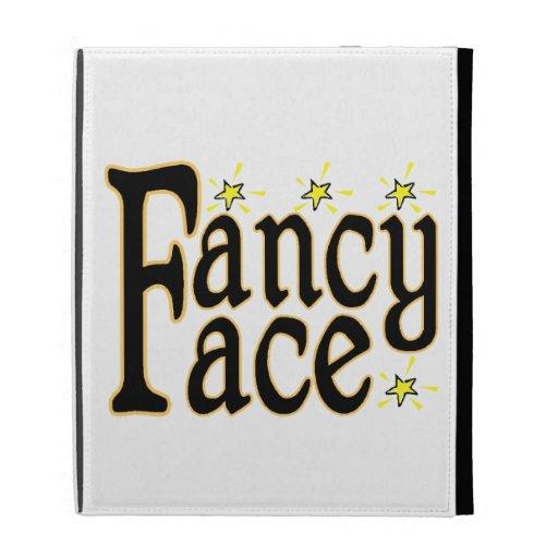 Fancy Face iPad Folio Covers