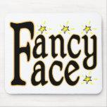 Fancy Face Mouse Pad