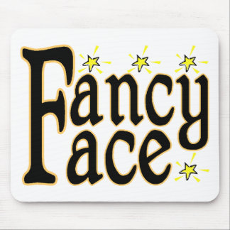 Fancy Face Mouse Pad