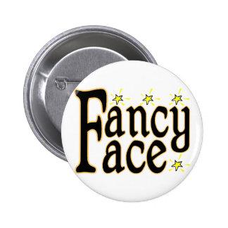 Fancy Face Pinback Button