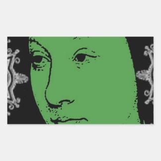 Fancy Face Rectangular Sticker