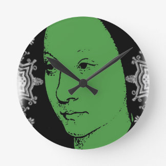 Fancy Face Round Clock
