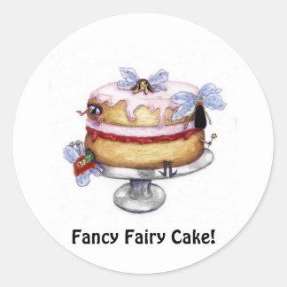 Fancy Fairy Cake! Collector Sticker Round Sticker