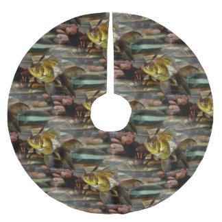 Fancy Fantail Goldfish Brushed Polyester Tree Skirt
