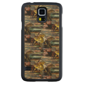Fancy Fantail Goldfish Carved® Maple Galaxy S5 Slim Case