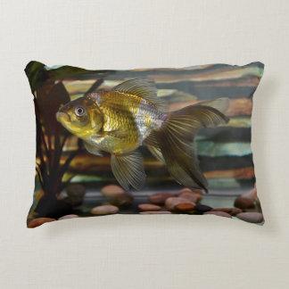 Fancy Fantail Goldfish Decorative Pillow