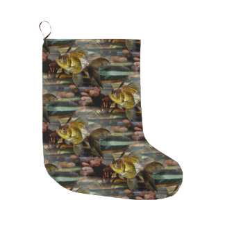 Fancy Fantail Goldfish Large Christmas Stocking