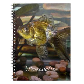 Fancy Fantail Goldfish Notebook