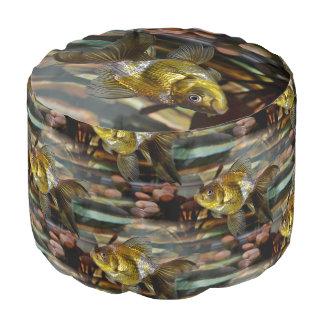 Fancy Fantail Goldfish Round Pouf