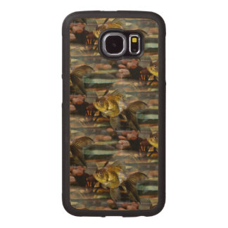 Fancy Fantail Goldfish Wood Phone Case