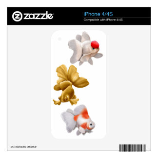 Fancy Fantail Goldfish Zazzle Skin Decals For The iPhone 4
