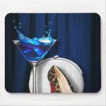 fancy fashion girly martini stilletos mousepad