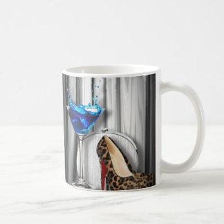 fancy fashion girly martini stilletos basic white mug