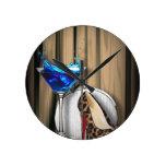 fancy  fashion girly martini stilletos round wall clock