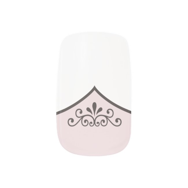 Fancy Faux French Tip Manicure with ANY COLOR Base
