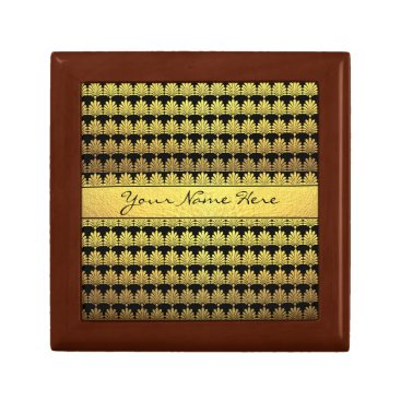 Fancy Faux Gold Art Deco with Name Gift Box