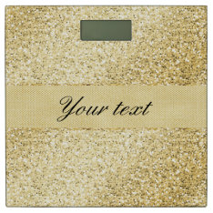 Fancy Faux Gold Glitter Personalized Bathroom Scale at Zazzle