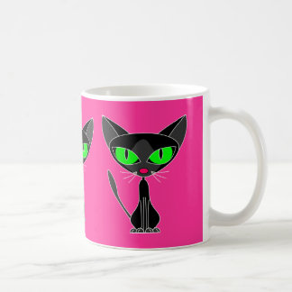 Fancy Feline Black Cat Large Mug