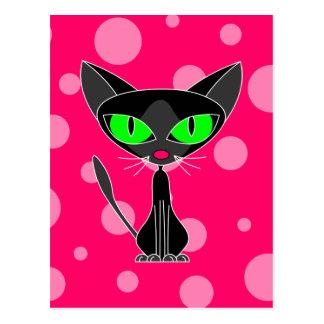 Fancy Feline Black Cat Postcard