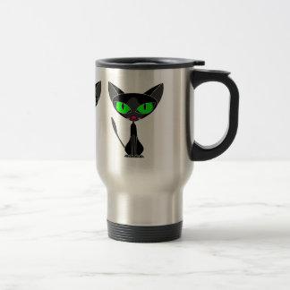 Fancy Feline Black Cat Travel Mug