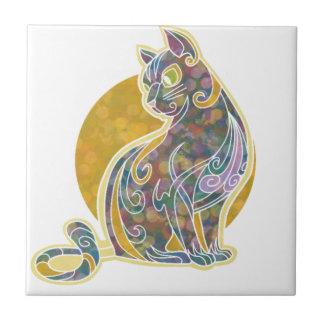 Fancy Feline Ceramic Tile