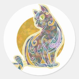 Fancy Feline Classic Round Sticker
