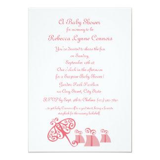 Fancy Fine/ Baby Shower 5x7 Paper Invitation Card