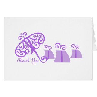 Fancy Fine/ Thank You/ Violet Cards