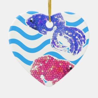 fancy fish ceramic ornament