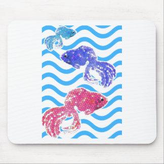 fancy fish mouse pad