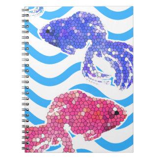 fancy fish notebook