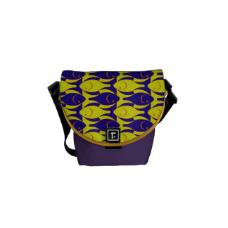 Fancy Fish Pattern Courier Bag