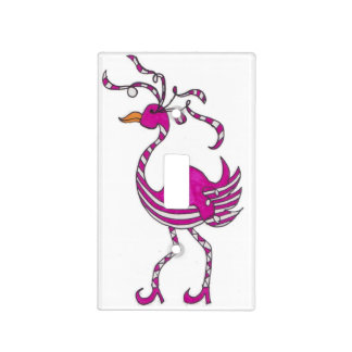 Fancy Flamingo Light Switch Cover