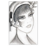 Fancy Flapper - Black and White Dry Erase Boards