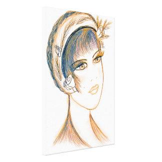 Fancy Flapper Canvas Print