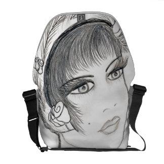 Fancy Flapper Courier Bag