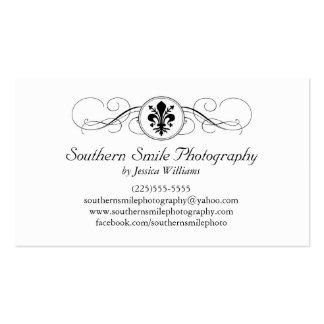 Fancy Fleur de Lis Business Card Template