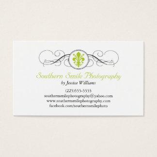 Fancy Fleur de Lis Business Card