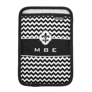 Fancy Fleur de LIs Chevron iPad Mini Sleeve