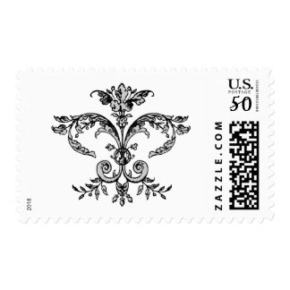 Fancy Fleurish BW Postage
