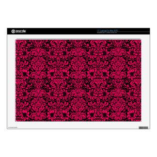 "Fancy Floral Damask 17"" Laptop Decals"
